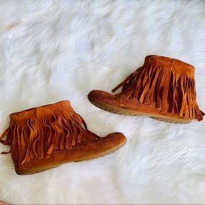 Lucky Brand Fringe Booties